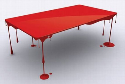 Paint drip blood table