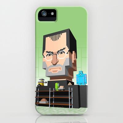 Steve Jobs 3D pixel portrait
